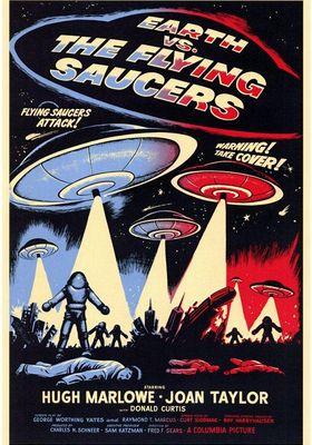 『世紀の謎 空飛ぶ円盤地球を襲撃す』のポスター