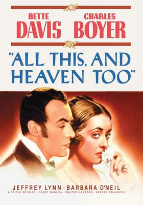 All This, and Heaven Too's Poster