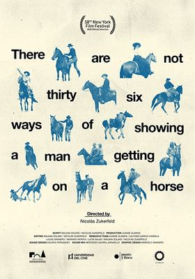 There Are Not Thirty-Six Ways of Showing a Man Getting on a Horse's Poster