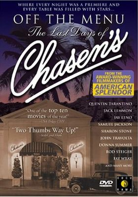 『Off the Menu: The Last Days of Chasen's』のポスター